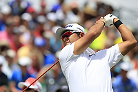 Hideki Matsuyama (JPN) tees off the 1st tee start his match during Sunday's Final Round of the 117th U.S. Open Championship 2017 held at Erin Hills, Erin, Wisconsin, USA. 18th June 2017.<br /> Picture: Eoin Clarke | Golffile<br /> <br /> <br /> All photos usage must carry mandatory copyright credit (&copy; Golffile | Eoin Clarke)