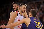 League ACB-ENDESA 2017/2018 - Game: 20.<br /> FC Barcelona Lassa vs Retabet Bilbao Basket: 90-58.<br /> Axel Hervelle vs Victor Claver.