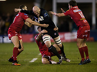 Bath Rugby's Matt Garvey in action during todays match<br /> <br /> Photographer Bob Bradford/CameraSport<br /> <br /> European Champions Cup Round 5 - Bath Rugby v Scarlets - Friday 12th January 2018 - The Recreation Ground - Bath<br /> <br /> World Copyright &copy; 2018 CameraSport. All rights reserved. 43 Linden Ave. Countesthorpe. Leicester. England. LE8 5PG - Tel: +44 (0) 116 277 4147 - admin@camerasport.com - www.camerasport.com