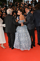 "CANNES, FRANCE. May 17, 2019: Pedro Almodovar, Penelope Cruz & Antonio Banderas at the gala premiere for ""Pain and Glory"" at the Festival de Cannes.<br /> Picture: Paul Smith / Featureflash"