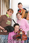 MUSIC MAKERS: Striking up a tune for the Con Curtin Music Festivalin Brosna were local musicians pictured in rehersals  this week..L/r.  Gretta Curtin, Ann Marie Fitzgerald, Daniel Fitzgerald, and Catherine Curtin.