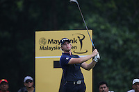 Two consecutive double bogeys and a 74 during the Final Round left Tom Lewis (ENG) T24 at  the 2014 Maybank Malaysian Open at the Kuala Lumpur Golf & Country Club, Kuala Lumpur, Malaysia. Picture:  David Lloyd / www.golffile.ie