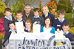 Kilcummin NS pupils who were awarded Junior Entrepreneurs certificates at their school on Tuesday for their Flower Power Project front row l-r: David Gleeson, Lucia Hurmson, Catriona Purtill, Sean O'Leary. Back row: Cian Fahy, James Nagle, John McClain Local Entrepreneur, Niall McCarthy, Gillian Sheehan and Lorcan O'Connor