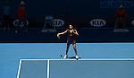 Jamie Hampton (USA) loses at Australian Open in Melbourne Australia on 18th January 2013