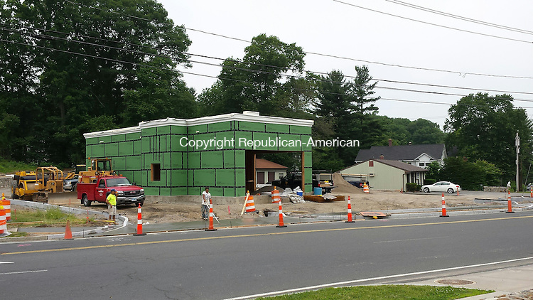 WATERBURY, CT - June 13, 2015 - 061315AL01 - Borghesi Building & Engineering is constructing a new Starbucks at 1250 West Main St. in Waterbury. The property is owned by Vincent LoRusso.