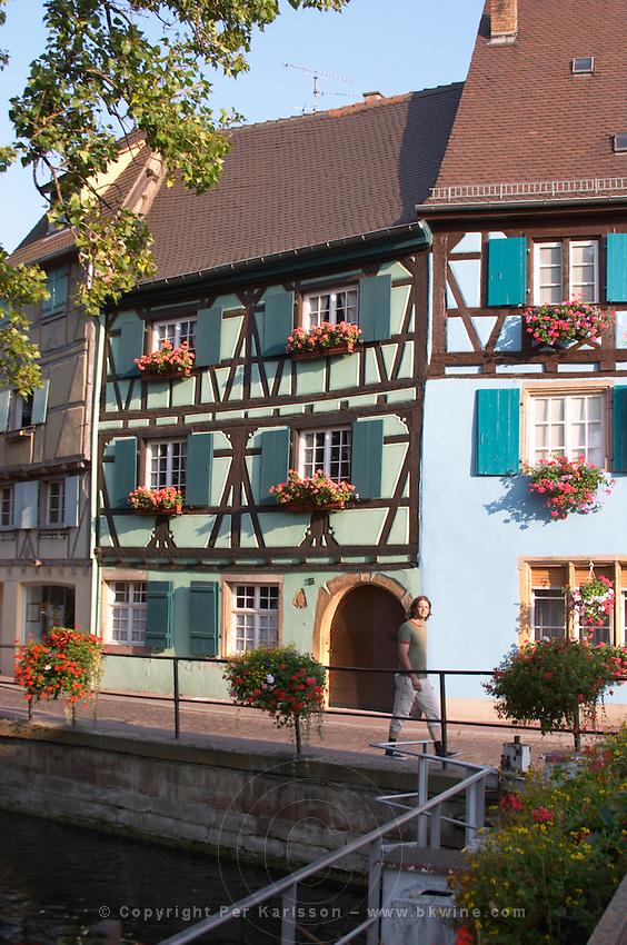half timbered houses quai de la poissonnerie little venice colmar alsace france