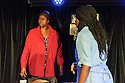 "Edinburgh, UK. 05.08.2016. Clean Break theatre company presents ""House"", by Somalia Seaton, directed by Roisin McBrinn, at Assembly Box, as part of the Edinburgh Festival Fringe. Picture shows: Michelle Greenidge (Mum), Rebecca Omogbehin (Jemima). Photograph © Jane Hobson."