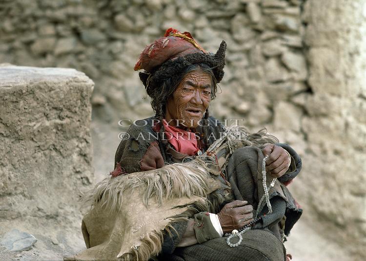 Woman at Lamayuru, Ladakh India.