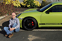 John Cieslik with his Porche in Sainfield, County Down, Northern Ireland. Photo/paulmcerlane.net