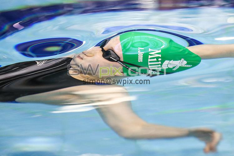 Picture by Alex Whitehead/SWpix.com - 13/04/2016 - Swimming - British Swimming Championships 2016 - Tollcross International Swimming Centre, Glasgow, Scotland - Isabel Jones during the Womens Junior 100m Backstroke final.