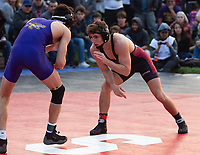 Stanford, California -November 10, 2018: The Stanford Cardinal wrestling team wins over San Francisco State 41-5 at the Football Fan Fest in Stanford, California.