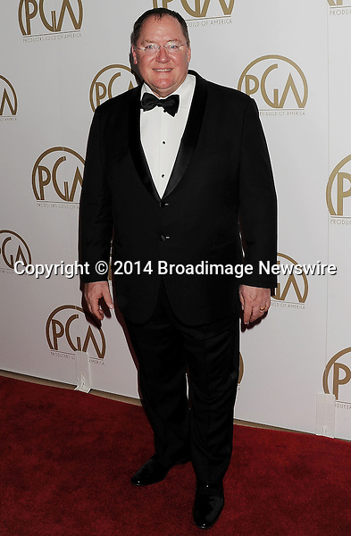 Pictured: John Lasseter<br /> Mandatory Credit &copy; Joseph Gotfriedy/Broadimage<br /> 25th Annual Producers Guild Awards<br /> <br /> 1/19/14, Beverly Hills, California, United States of America<br /> <br /> Broadimage Newswire<br /> Los Angeles 1+  (310) 301-1027<br /> New York      1+  (646) 827-9134<br /> sales@broadimage.com<br /> http://www.broadimage.com