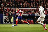 8th February 2020; Wanda Metropolitano Stadium, Madrid, Spain; La Liga Football, Atletico de Madrid versus Granada; Angel Martin Correa (Atletico de Madrid) break forward through midfield