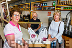 Mary O'Connor and Marion Robbins been served their take away by Danny Roche at Der Sullivan's Deli on the Mall on Saturday.