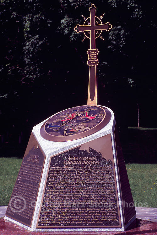 Caraquet, NB, New Brunswick, Canada - Monument to the 'Great Acadian Upheaval' (Deportation of the Acadians) at Sainte-Anne-du-Bocage, a Catholic Sanctuary