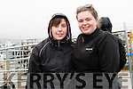 Nora Begley and Áine Moriarty, from Lispole, at the West Kerry Agricultural Show at the Mart in Dingle on Sunday afternoon.