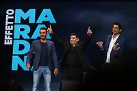 Gigi, Diego Armando Maradona e Ross <br /> Napoli 05-07-2017  Napoli Piazza del Plebiscito<br /> Evento per il conferimento della cittadinanza onoraria a Diego Armando Maradona da parte del Comune di Napoli.<br /> Honorary Citizenship to Diego Armando Maradona<br /> By the City of Naples.<br /> Foto Cesare Purini / Insidefoto