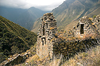 There are ancient Inca ruins and evidence of life scattered throughout the Peruvian highlands.
