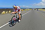 KONA, HAWAII - OCTOBER 14:  Daniela Ryf of Switzerland bikes en route to her win during the 2017 IRONMAN World Championships on October 12, 2017 in Kona, Hawaii. (Photo by Donald Miralle for IRONMAN)