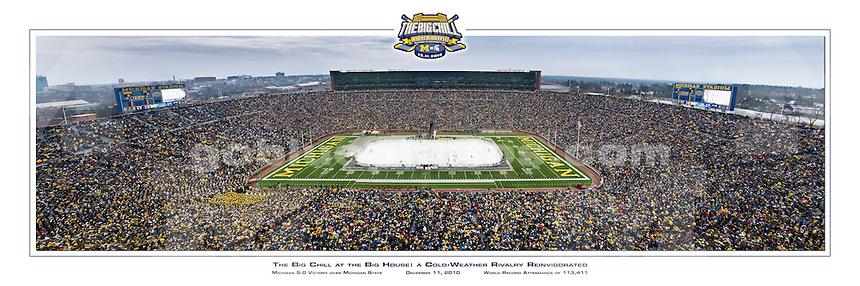 The Big Chill at the Big House<br /> Michigan 5-0 Victory over Michigan State; December 11, 2010; World Record Attendance of 113,411