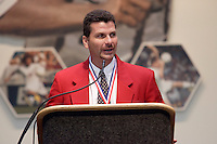 2004 National Soccer Hall of Fame inductee Michael Windischmann gives his acceptance speech on Monday October 11, 2004 at the National Soccer Hall of Fame and Museum, Oneonta, NY..