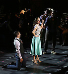"Tony Yazbeck, Laura Osnes, Mark Linn-Baker and Jerry O'Connell during the Manhattan Concert Productions 25th Anniversary concert performance of ""Crazy for You"" at David Geffen Hall, Lincoln Center on February 19, 2017 in New York City."