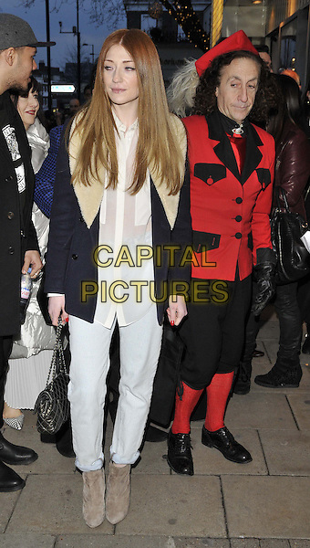 LONDON, ENGLAND - MARCH 25: Nicola Roberts &amp; Philip Salon attend the &quot;20 Feet from Stardom&quot; VIP gala film screening, Everyman Screen on the Green cinema, Upper St., on Tuesday March 25, 2014 in London, England, UK.<br /> CAP/CAN<br /> &copy;Can Nguyen/Capital Pictures