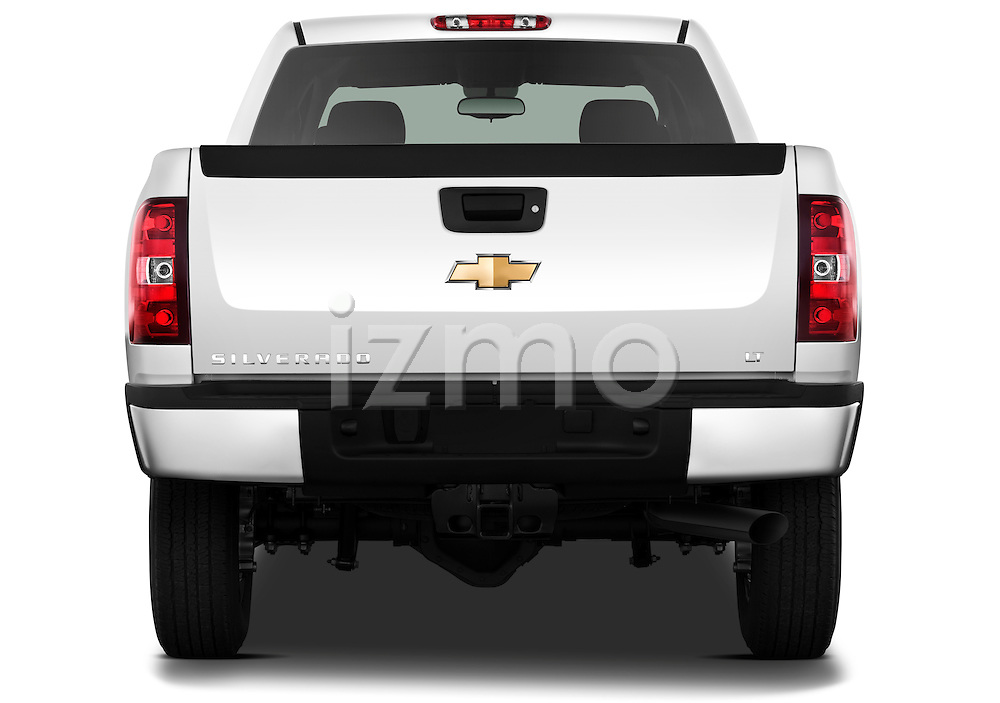 Straight rear view of a 2011 Chevrolet Silverado 2500LT Crew Cab