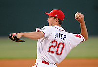 RHP Jeremiah Bayer (20) of the Greenville Drive in a game on May 27, 2010, at Fluor Field at the West End in Greenville, S.C. Photo by: Tom Priddy/Four Seam Images
