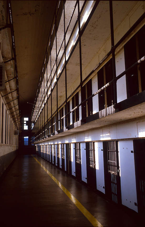 A cell block at the Old Montana State Prison in August of 2006.