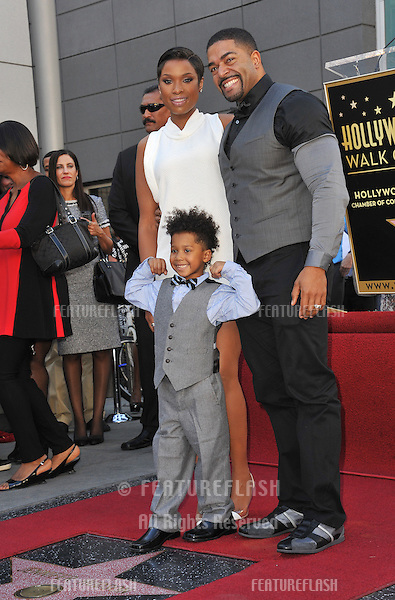 Jennifer Hudson with husband David Otunga &amp; son David Daniel Otunga Jr., 4, is honored with the 2,512th star on the Hollywood Walk of Fame.<br /> November 13, 2013  Los Angeles, CA<br /> Picture: Paul Smith / Featureflash