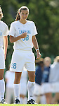 North Carolina's Tobin Heath on Sunday, October 15th, 2006 at Fetzer Field in Chapel Hill, North Carolina. The University of North Carolina Tarheels defeated the Virginia Tech Hokies 1-0 in an Atlantic Coast Conference NCAA Division I Women's Soccer game.