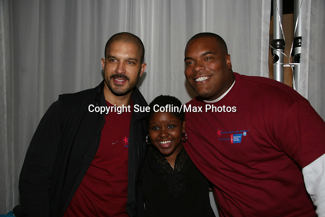 Terrell Tilford - Shenell Edmonds & Sean Ringgold at the 2009 Daytime Stars and Strikes to benefit the American Cancer Society to benefit the American Cancer Society on October 11, 2009 at the Port Authority Leisure Lanes, New York City, New York. (Photo by Sue Coflin/Max Photos)