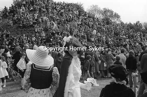 Barwick in Elmet May Queen, Barwick in Elmet, Yorkshire England. 1975.