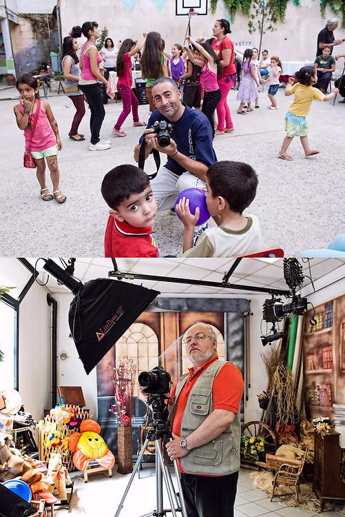 SGUARDI INCROCIATI<br /> Aziz Mandi e Gabriele Chio, fotografi<br /> <br /> Il fotografo sorride al fotografo<br /> i bimbi intorno<br /> a giocare<br /> ballare<br /> camminare<br /> soffiare<br /> osservare<br /> e non c'è proprio<br /> niente altro da dire,<br /> solo da guardare.<br /> <br /> Un fotografo eccolo qua:<br /> scenografie da montare<br /> mondi da immaginare<br /> luci per abbellire.<br /> Non c'è proprio niente da dire <br /> solo lo sguardo può domandare <br /> perché<br /> mi vuoi fotografare?
