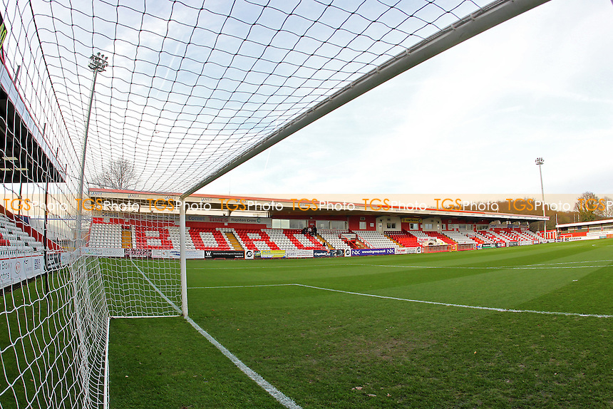 General view of the ground ahead of kick-off during Stevenage vs Accrington Stanley, Sky Bet League 2 Football at the Lamex Stadium, Stevenage, England on 19/12/2015