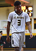 A disappointed Andre Snoddy #3 of St. Anthony's exits the court after his team's 58-55 loss to St. Joseph (Metuchen, NJ) in a non-league boys basketball game at St. Anthony's High School in South Huntington on Saturday, Dec. 29, 2018. He recorded 14 points and 12 rebounds.