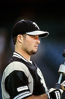 Mark Johnson of the Chicago White Sox during a game against the Anaheim Angels at Angel Stadium circa 1999 in Anaheim, California. (Larry Goren/Four Seam Images)
