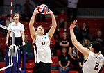 KENOSHA, WI - APRIL 28:  Springfield College setter Mike Neary puts up a set during the Division III Men's Volleyball Championship held at the Tarble Athletic and Recreation Center on April 28, 2018 in Kenosha, Wisconsin. (Photo by Steve Woltmann/NCAA Photos via Getty Images)