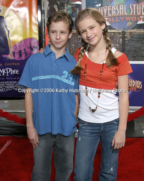 Cayden Boyd.Jenna Boyd.Nanny McPhee Premiere.Universal Studios.Los Angeles, CA.January 14, 2006.©2006 Kathy Hutchins / Hutchins Photo....