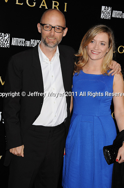 LOS ANGELES, CA - January 13: Moby and guest attend Save The Children's U.S. Programs And Artists For Peace And Justice Hosted By Bulgari at Ron Burkle's Green Acres Estate on January 13, 2011 in Beverly Hills, California.