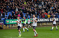 Bolton Wanderers' Ronan Darcy (left) and Liam Edwards acknowledge the applause from the crowd at the end of the match<br /> <br /> Photographer Andrew Kearns/CameraSport<br /> <br /> The EFL Sky Bet Championship - Bolton Wanderers v Coventry City - Saturday 10th August 2019 - University of Bolton Stadium - Bolton<br /> <br /> World Copyright © 2019 CameraSport. All rights reserved. 43 Linden Ave. Countesthorpe. Leicester. England. LE8 5PG - Tel: +44 (0) 116 277 4147 - admin@camerasport.com - www.camerasport.com