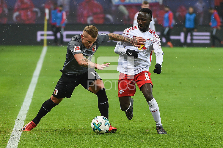 - ,  , and of  left  Jonathan Schmid (FC Augsburg #17) and Naby KEITA (RB Leipzig #8)<br />