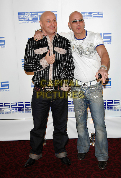 FRED FAIRBRASS & RICHARD FAIRBRASS.Attending the Sony Radio Academy Awards,.Grosvenor House Hotel, .London, England, April 30th 2007..full length shaved head bald sunglasses earrings sunglasses arm around shoulder brothers family Right Said Fred.CAP/PL.©Phil Loftus/Capital Pictures