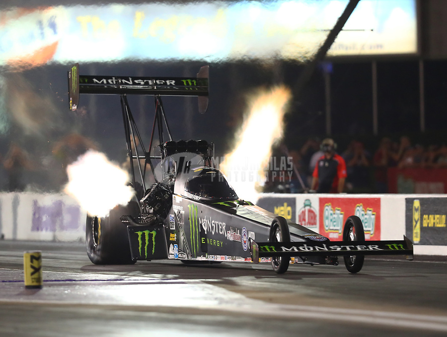Apr 21, 2017; Baytown, TX, USA; NHRA top fuel driver Brittany Force during qualifying for the Springnationals at Royal Purple Raceway. Mandatory Credit: Mark J. Rebilas-USA TODAY Sports