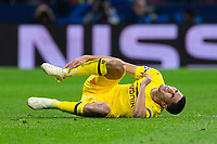 Achraf Hakimi of Borussia Dortmund during the match between Atletico de Madrid and Borussia Dortmund of UEFA Champions League 2018-2019, group A, date 4 played at the Wanda Metropolitano Stadium. Madrid, Spain, 6 NOV 2018.