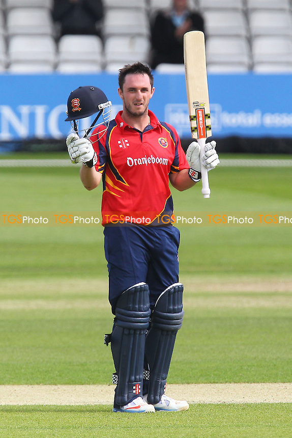 Hamish Rutherford celebrates a century, 100 runs for Essex - Essex Eagles vs Scotland - Yorkshire Bank YB40 Cricket at the Essex County Ground, Chelmsford - 02/06/13 - MANDATORY CREDIT: Gavin Ellis/TGSPHOTO - Self billing applies where appropriate - 0845 094 6026 - contact@tgsphoto.co.uk - NO UNPAID USE