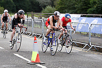 Photo: Richard Lane/Richard Lane Photography. GE Strathclyde Park Triathlon. 02/09/2012. Age Group cycle.