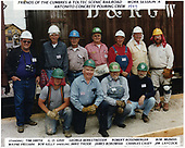 Antontio concrete pouring crew of the Friends of the C&amp;TS RR work session A.<br /> C&amp;TS  Antonito, CO  Taken by Berkstresser, George - 1997
