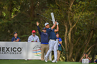 Xander Schauffele (USA) watches his tee shot on 16 during round 2 of the World Golf Championships, Mexico, Club De Golf Chapultepec, Mexico City, Mexico. 2/22/2019.<br /> Picture: Golffile | Ken Murray<br /> <br /> <br /> All photo usage must carry mandatory copyright credit (© Golffile | Ken Murray)
